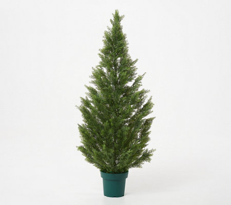 "National Tree 50"" Faux Indoor/Outdoor Cedar Tree with Growers Pot"
