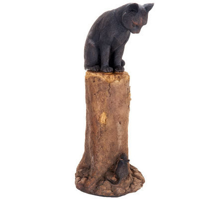 Plow U0026 Hearth Cat And Mouse Garden Statue