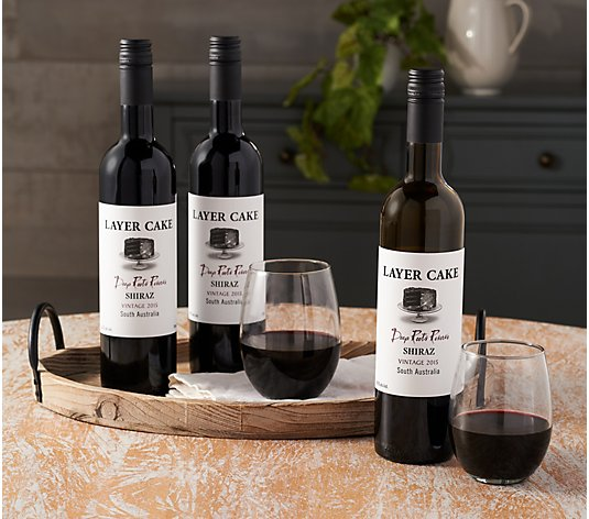 Vintage Wine Estates Layer Cake 3 Bottle Wine Set