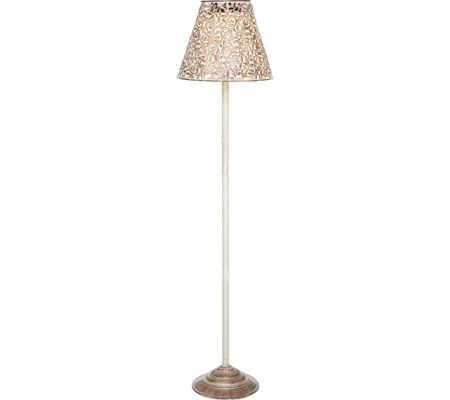 Led solar 2 in 1 filigree outdoor floor lamp by evergreen page 1 led solar 2 in 1 filigree outdoor floor lamp by evergreen aloadofball Images