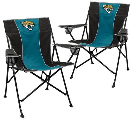 Enjoyable Nfl Set Of 2 Pregame Folding Chairs Qvc Com Lamtechconsult Wood Chair Design Ideas Lamtechconsultcom