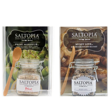 Saltopia Prime Monsiuer & Mushy Love Flavored Sea Salts