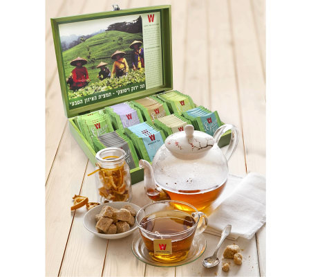 Wissotzky Tea Green Tea Chest with 80 SpecialtyGreen Teas