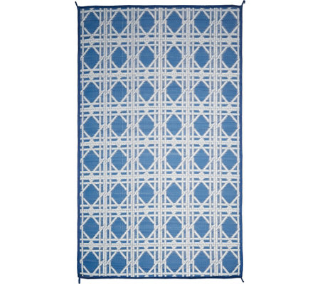 Barbara King 5x8 Cane Reversible Outdoor Mat by PatioMats