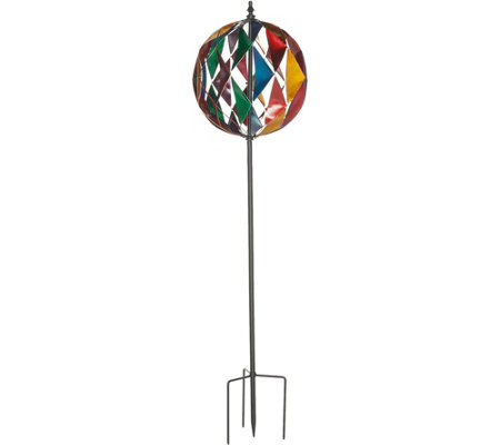 Plow & Hearth Diamond Globe Wind Spinner