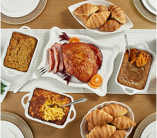 SH11/16 Corky's 5-lb Ham or Turkey w/ Sides & Croissants Auto-Delivery