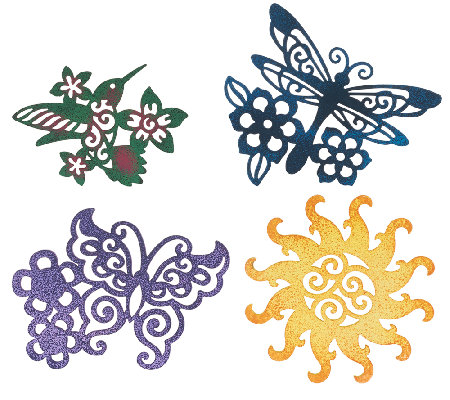 Set Of 4 Whimsical Patio Door Screen Savers By Evergreen Page 1