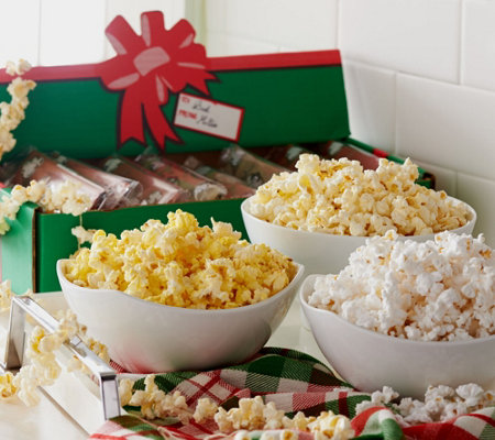 Farmer Jon's (15) 3.5 oz. Bags Virtually Hulless Popcorn in Holiday Box