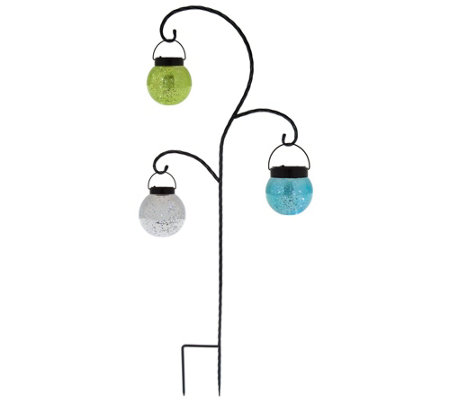 Plow & Hearth Solar Hanging Mercury Glass Lanterns