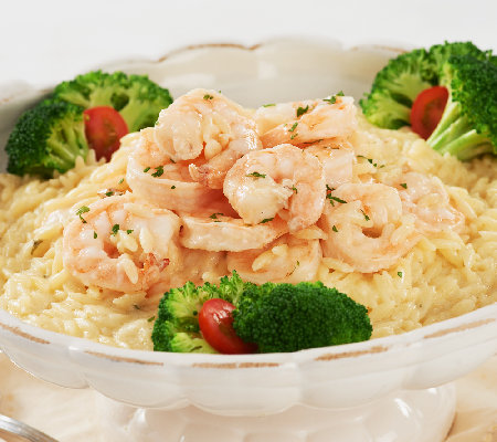 The Perfect Gourmet 3-lbs of Shrimp Alfredo with Orzo Pasta