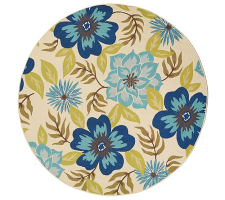 Tommy Bahama 94 Round All Over Floral In Outdoor Rug