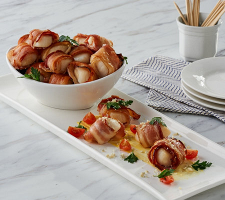 Graham & Rollins 4 lbs Bacon Wrapped Sea Scallops Auto-Delivery