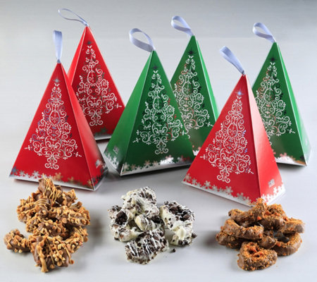 Landies Candies Pretzel Munch Christmas Tree Gift Boxes (6)