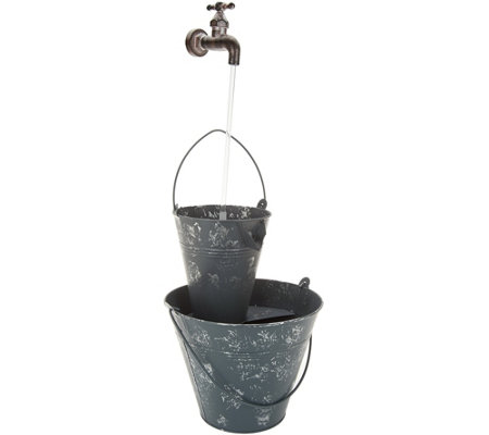 """As Is"" Barbara King Indoor/ Outdoor Faucet Illuminated Fountain"