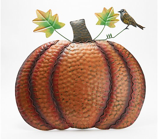 Plow & Hearth Metal Standing Pumpkin Garden Decor