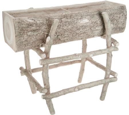martha stewart faux bois raised planter box page 1 qvc com
