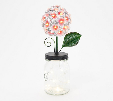 Ultimate Innovations LED Hydrangea in Jar with Fairy Lights