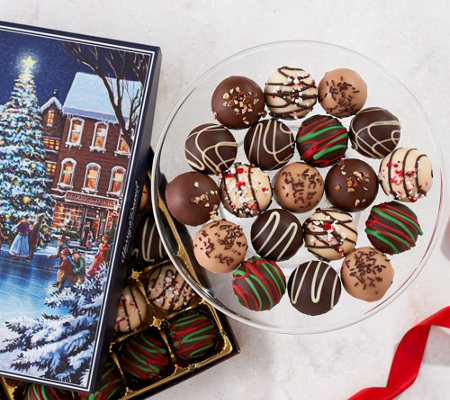 SH11/5 Harry & David (2) 24-pc Holiday Truffles in Gift Boxes