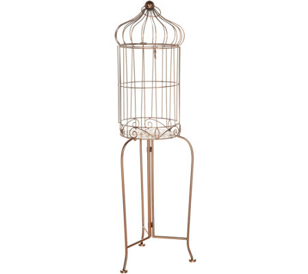 """As Is"" Barbara King 2-in-1 Vintage Style Birdcage and Accent Table"