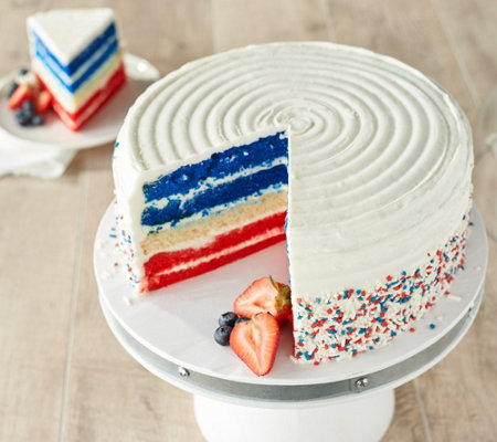 "David's Cookies 10"" 7-lb Patriotic Layer Cake"
