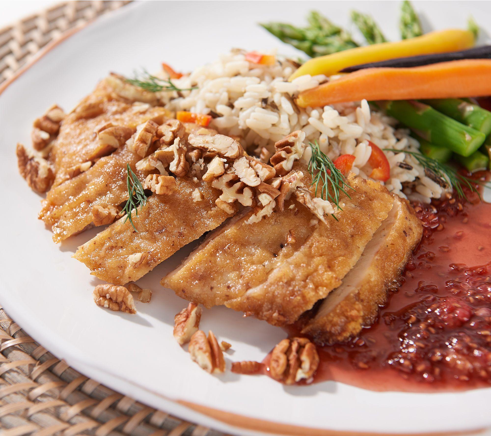 Stuffin Gourmet 8 4 Oz Pecan Chicken Qvc Com