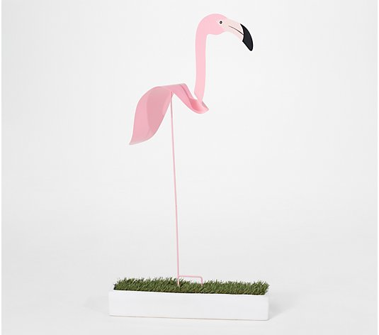"Barbara King 48"" Tall Fluttering Bird Garden Stake"