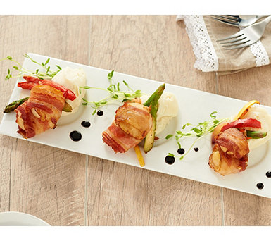 Graham & Rollins 5-lbs Bacon Wrapped Sea Scallops Auto-Delivery - M61645