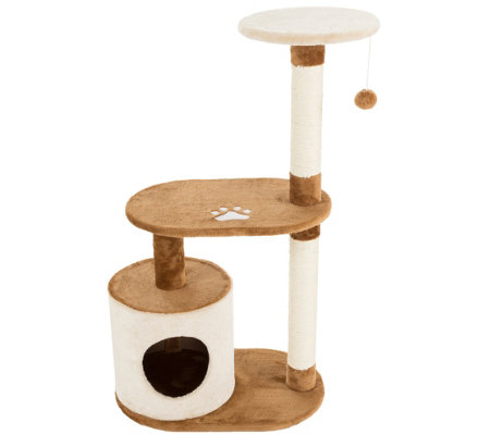 Petmaker Cat Tree Condo 3-Tier with Toy