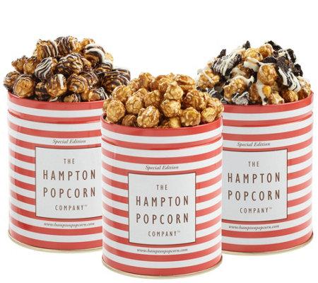 Hampton Popcorn Set Of Three Sweet Popcorn Tins Qvc Com