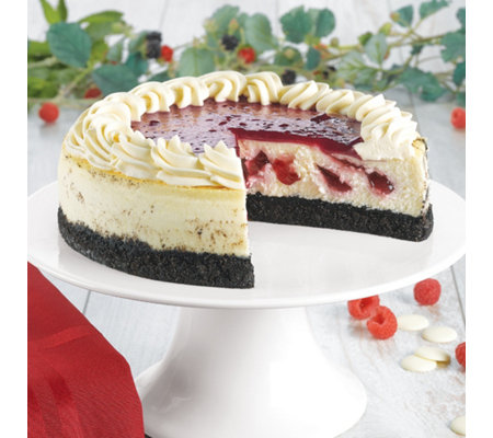 Junior's White Chocolate Raspberry Cheesecake