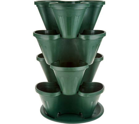 Barbara King 4-Piece Stackable Planter Tower