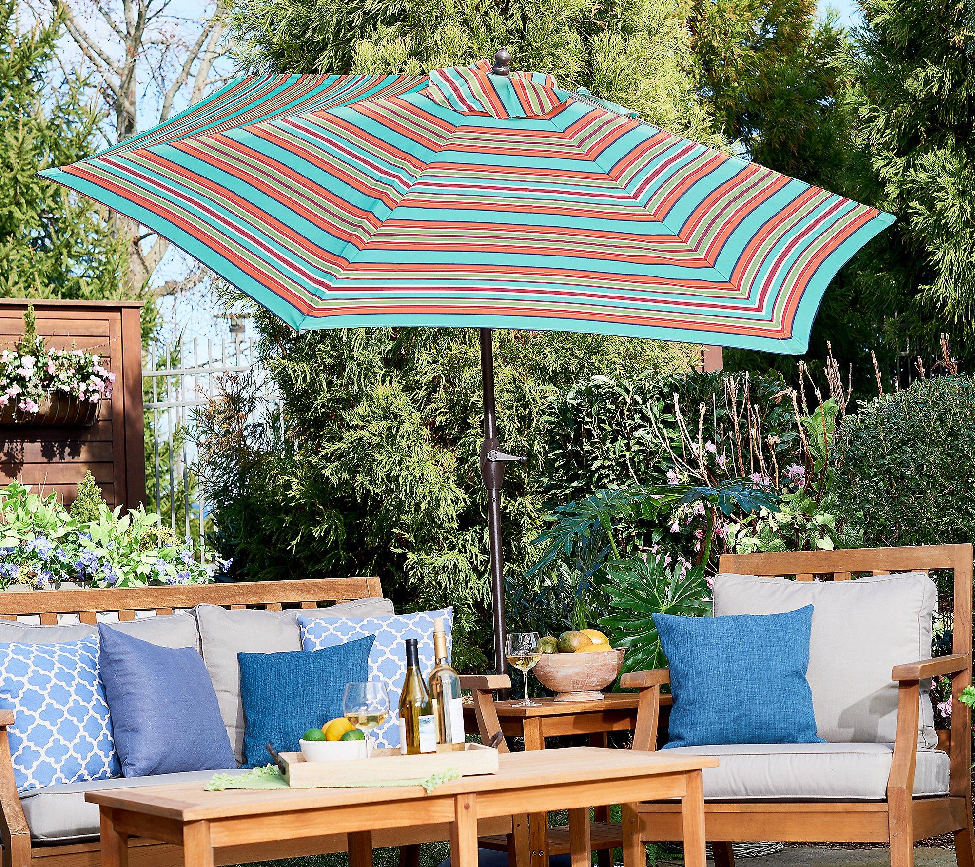 Garden Reflections 9 Round Patio Umbrella With Cover Qvc Com