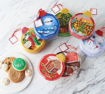 SH12/3 Cheryl's 6 Holiday Ornament Tins with Cookies & Confections - M60648