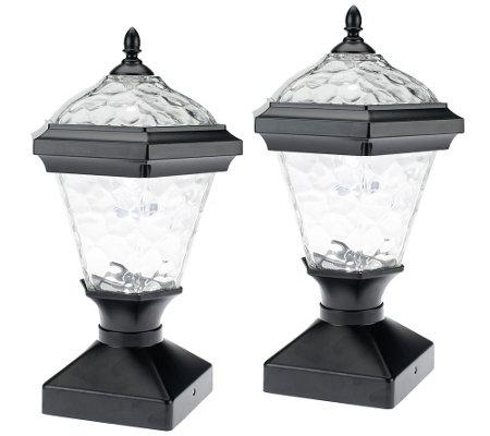 Modern Elegance Westinghouse 2 Pc Adonia Solar Post Light Set Qvc
