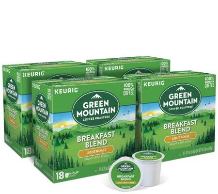 Keurig 72 Ct Green Mountain Coffee Breakfast Blend K Cup Pods