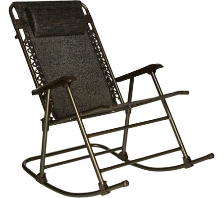 Bliss Hammocks Deluxe Foldable Rocking Chair With Headrest