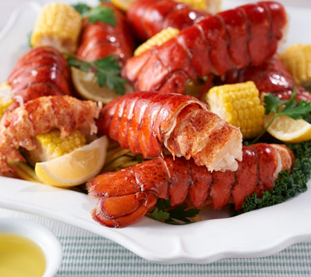Greenhead Lobster (18) 4-5 oz. Lobster Tails with 1lb Butter