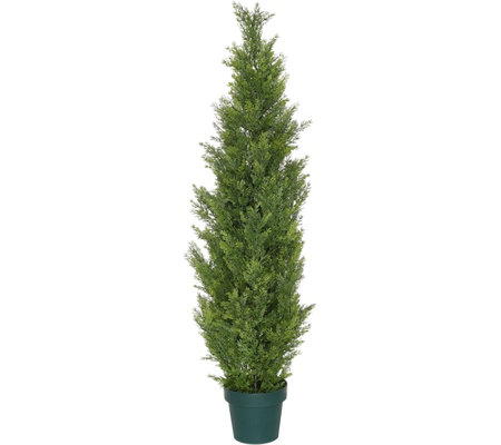 National Tree 53 Faux Cedar Tree With Growers Pot