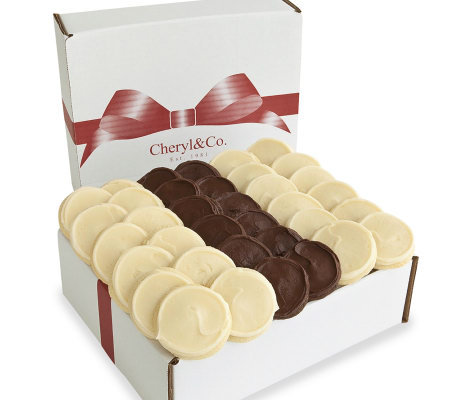 Cheryl's Frosted Duo Cookie Gift Box, 36 ct.