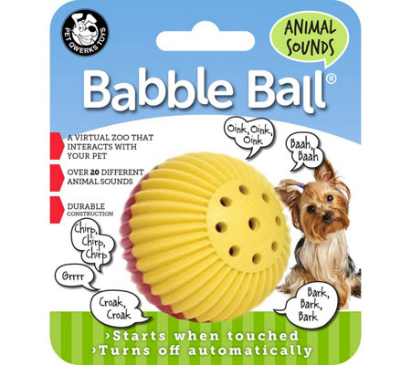 Pet Qwerks Small Animal Sounds Babble Ball - Red & Yellow
