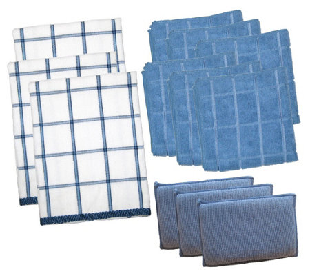 Don Aslett's 12-Piece Microfiber Kitchen Cleanup Set