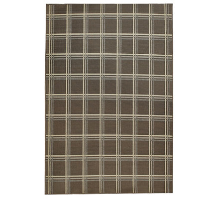 Scott Living 5x7 Windowpane Plaid Indoor/Outdoor Rug