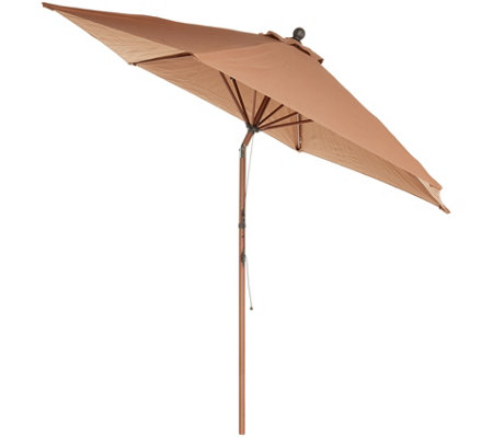 ATLeisure 9' Round Fade Resistant Easy Open Patio Umbrella