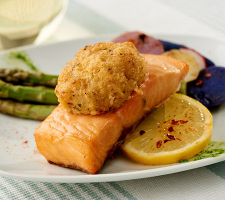 Great Gourmet (8) 5.5-oz Salmon with Crab Cake Auto-Delivery