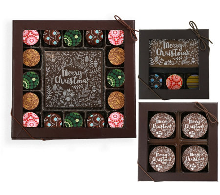 Ships 12 2 Chocolate Works Merry Christmas Gift Tower