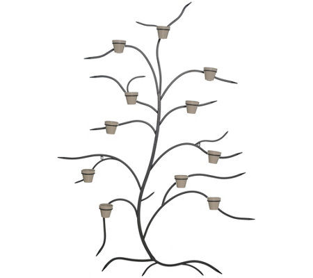 Martha Stewart 71 Metal Tree Wall Decor With Flower Pots
