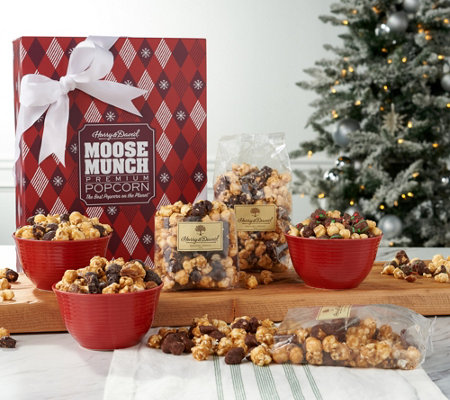 SH 11/4 Harry & David (6) 10-oz Moose Munch Popcorn Holiday Box