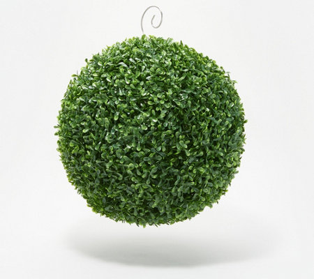 "Barbara King 14"" Faux Boxwood Topiary Sphere"