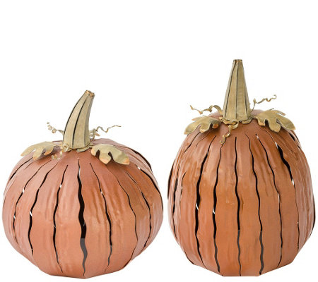 Desert Steel Outdoor Pumpkin Luminary