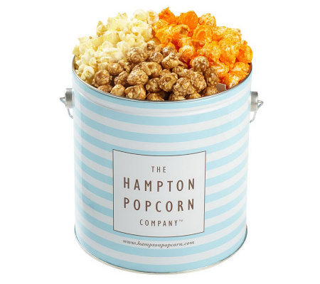 Hampton Popcorn Classic 1-Gallon Tin with 3 Gourmet Flavors